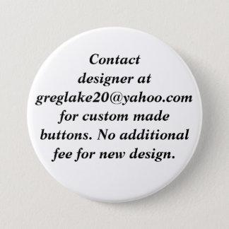 Chapa Redonda De 7 Cm Diseñador del contacto para los botones por