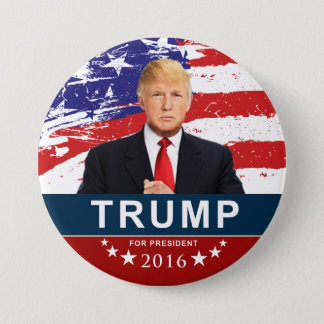 Chapa Redonda De 7 Cm Donald Trump para el presidente 2016 3 pulgadas