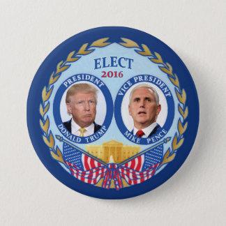 Chapa Redonda De 7 Cm Donald Trump y peniques de Mike