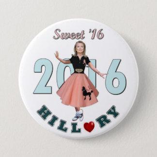 Chapa Redonda De 7 Cm Dulce '16 de Hillary