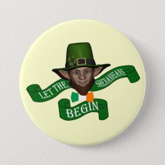 Chapa Redonda De 7 Cm El día de St Patrick divertido de los shenanigans