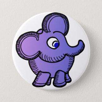 Chapa Redonda De 7 Cm Elefante púrpura