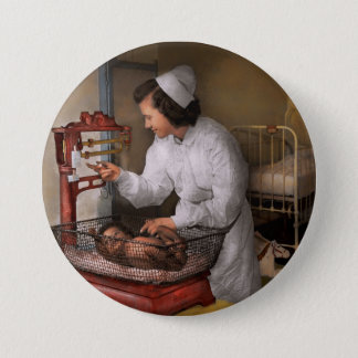 Chapa Redonda De 7 Cm Enfermera - la sala 1943 de la pediatría
