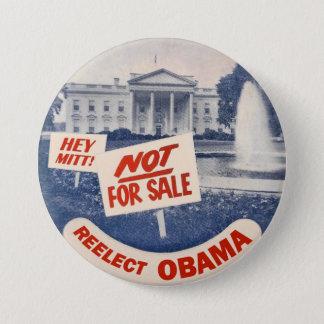 Chapa Redonda De 7 Cm Ey el mitón reelige a Obama
