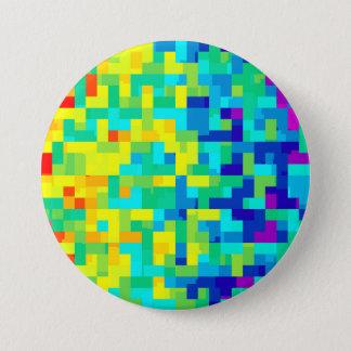 Chapa Redonda De 7 Cm Fondo inconsútil del modelo del pixel como