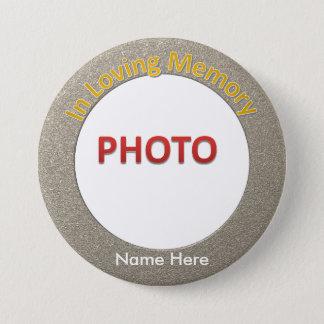 Chapa Redonda De 7 Cm Foto conmemorativa personalizada