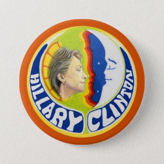Chapa Redonda De 7 Cm Hillary Clinton quiere la luna