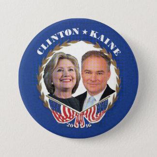 Chapa Redonda De 7 Cm (Hillary) CLINTON * (Tim) KAINE