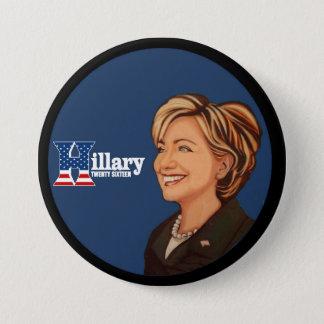 Chapa Redonda De 7 Cm Hillary Clinton veinte dieciséis