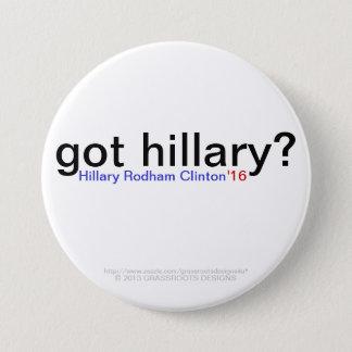 Chapa Redonda De 7 Cm ¿hillary conseguida? Hillary Rodham Clinton '16