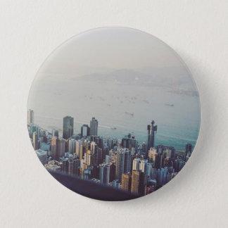 Chapa Redonda De 7 Cm Hong Kong desde arriba