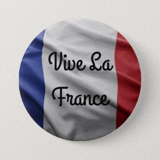Chapa Redonda De 7 Cm Insignia de Francia del La de Vive