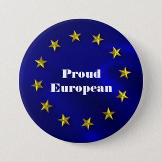 Chapa Redonda De 7 Cm Insignia del orgullo de la unión europea