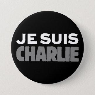 Chapa Redonda De 7 Cm Je Suis Charlie - soy negro de Charlie
