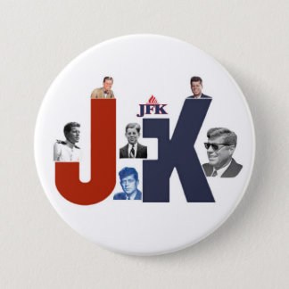 Chapa Redonda De 7 Cm JFK 100 años