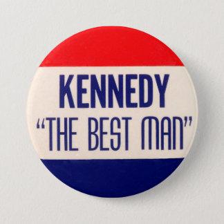 """Chapa Redonda De 7 Cm Kennedy """"el mejor hombre """""""