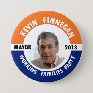Chapa Redonda De 7 Cm Kevin Finnegan para el alcalde 2013 de NYC