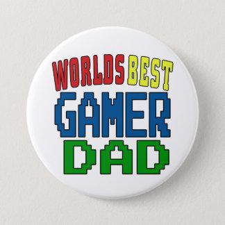 Chapa Redonda De 7 Cm La mejor insignia del papá del videojugador de los