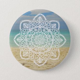Chapa Redonda De 7 Cm Mandala de la playa