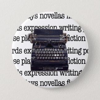 Chapa Redonda De 7 Cm Máquina de escribir del vintage