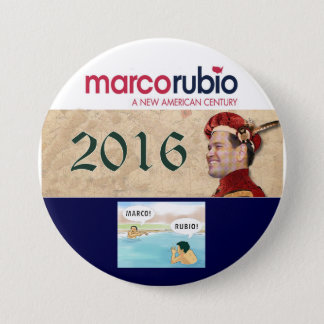 Chapa Redonda De 7 Cm Marco Rubio para el presidente 2016