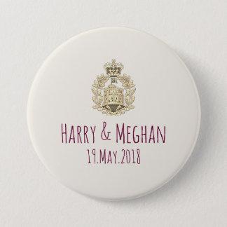Chapa Redonda De 7 Cm MOD Harry y botones reales del boda de Meghan