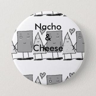Chapa Redonda De 7 Cm Nacho y queso