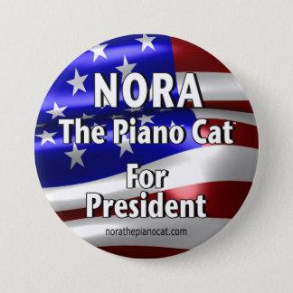 Chapa Redonda De 7 Cm Nora para presidente Button #2