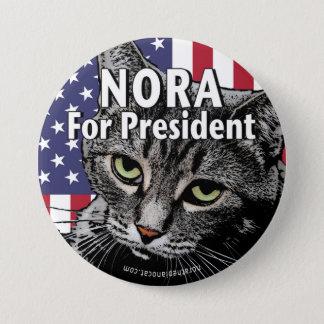 Chapa Redonda De 7 Cm Nora para presidente Button #7