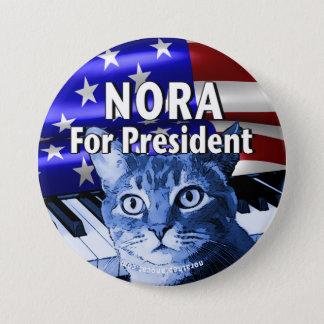 Chapa Redonda De 7 Cm Nora para presidente Button In Blue #3