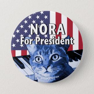 Chapa Redonda De 7 Cm Nora para presidente Button In Blue #4