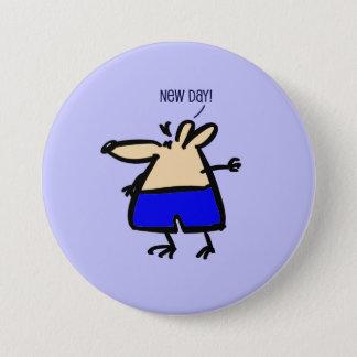 Chapa Redonda De 7 Cm Nuevo ratón de la diversión del día en insignia