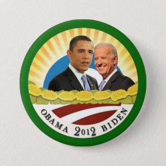 Chapa Redonda De 7 Cm Obama y sol de Biden