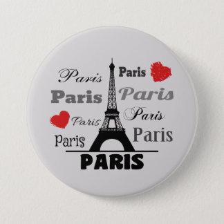 Chapa Redonda De 7 Cm París