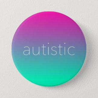 Chapa Redonda De 7 Cm Pendiente magenta y verde del orgullo autístico -