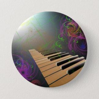 Chapa Redonda De 7 Cm piano