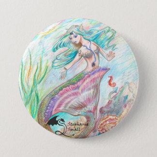 Chapa Redonda De 7 Cm Pin del duende de la sirena