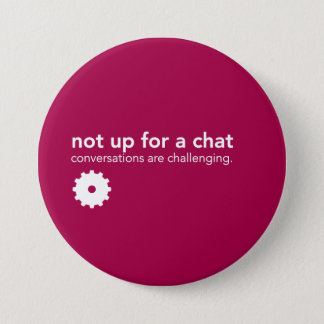 Chapa Redonda De 7 Cm Pin rojo de la comunicación - no para arriba para
