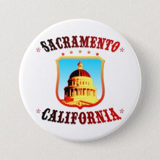Chapa Redonda De 7 Cm Sacramento California