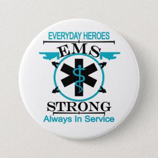 Chapa Redonda De 7 Cm Semana del servicio médico de la emergencia que