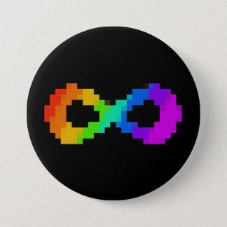 Chapa Redonda De 7 Cm símbolo de 8 bits de Neurodiversity