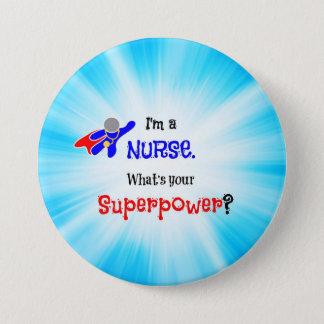 Chapa Redonda De 7 Cm Super héroe de la enfermera
