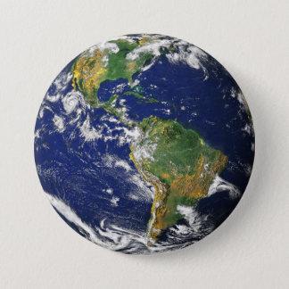 Chapa Redonda De 7 Cm Tierra del planeta