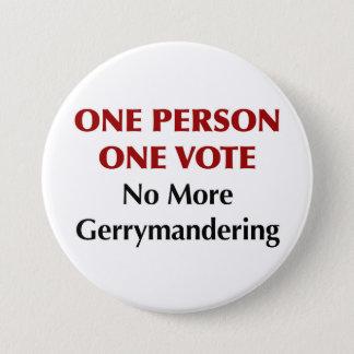 Chapa Redonda De 7 Cm Un voto de la persona una, Gerrymandering