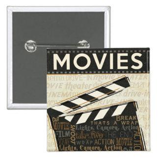 Chapaleta de la película del vintage chapa cuadrada 5 cm