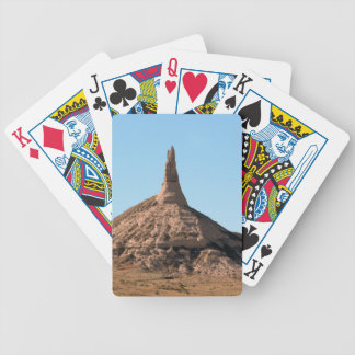Chapitel de la roca de la chimenea de Scottsbluff Baraja De Cartas Bicycle