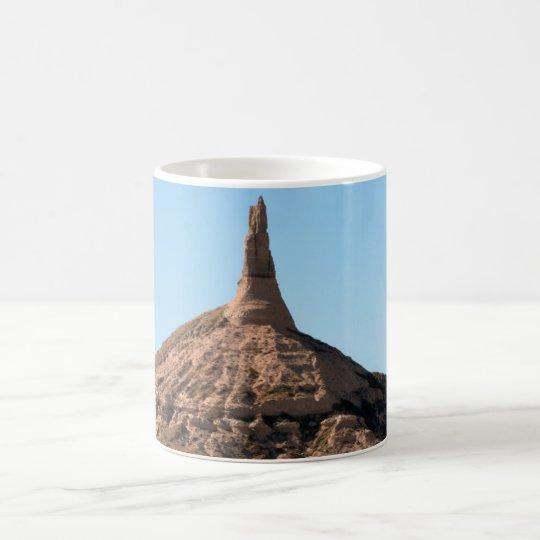 Chapitel de la roca de la chimenea de Scottsbluff Taza De Café