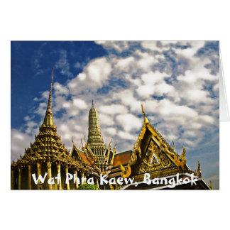 Chapiteles de Wat Phra Kaew Tarjeta De Felicitación