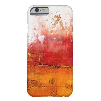 chapoteo abstracto colorido del iPhone 6 Funda De iPhone 6 Barely There