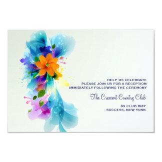 Chapoteo de la tarjeta de la recepción del color anuncios personalizados